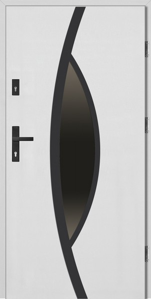 Drzwi wejściowe 90 cm białe Lorenzo Plus Płaskie SETTO