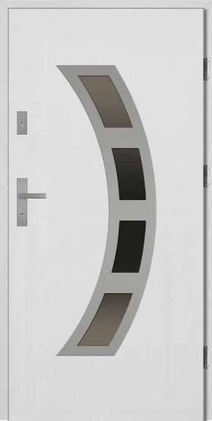 Drzwi wejściowe białe Ricardo Płaskie SETTO