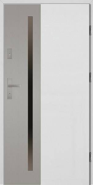 Drzwi wejściowe 90 cm białe Augusto Uno Płaskie SETTO