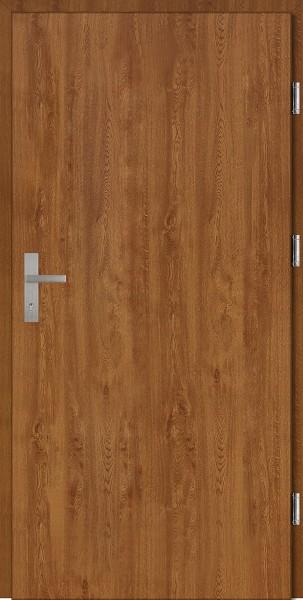 Drzwi wejściowe złoty dąb Pełne Plus SETTO
