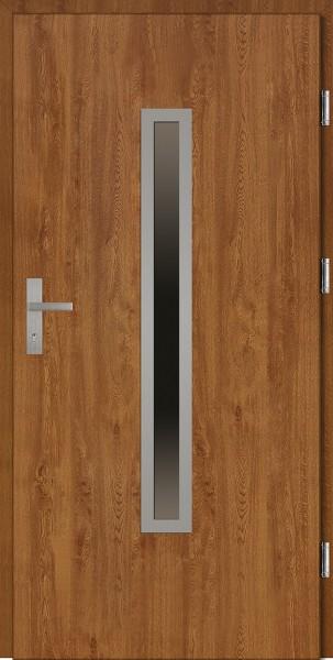 Drzwi wejściowe złoty dąb Dario Plus SETTO