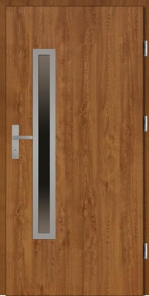Drzwi wejściowe złoty dąb 90 cm Dario Uno Plus SETTO