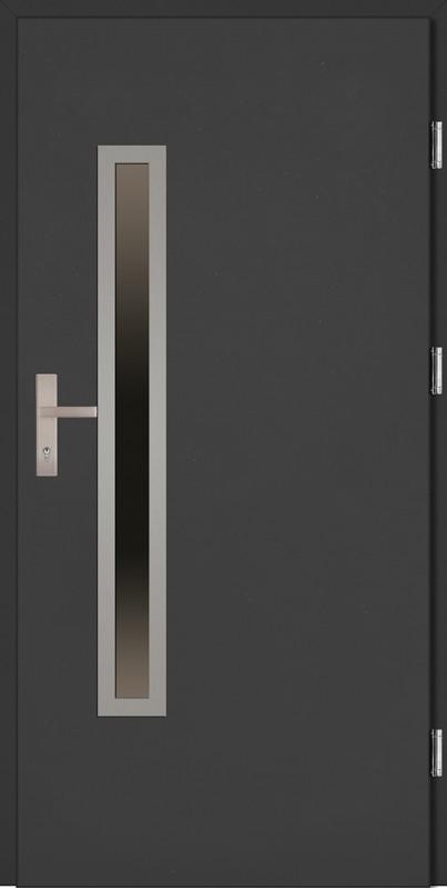 Drzwi wejściowe antracyt Dario Uno Plus SETTO
