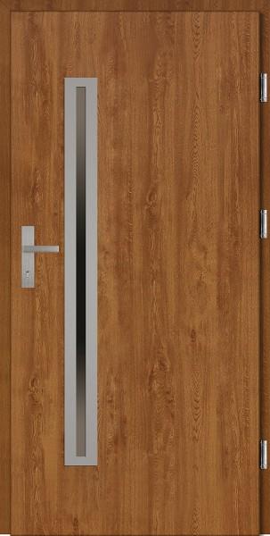 Drzwi wejściowe złoty dąb 90 cm Paolo Uno Plus SETTO