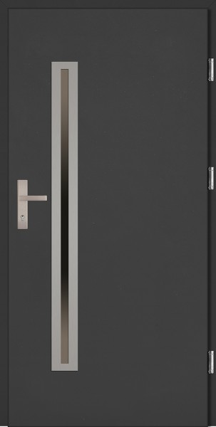 Drzwi wejściowe antracyt 90 cm Paolo Uno Plus SETTO
