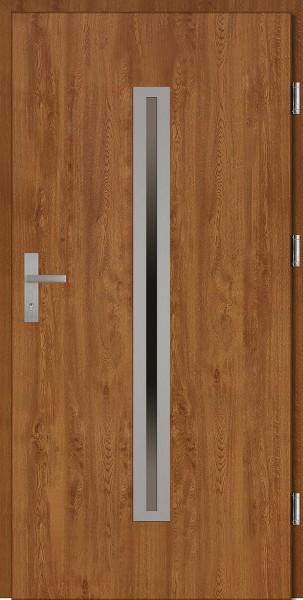 Drzwi wejściowe złoty dąb 90 cm Paolo Plus SETTO