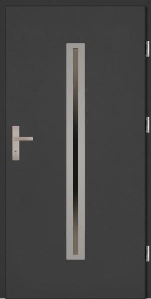 Drzwi wejściowe antracyt 90 cm Paolo Plus SETTO