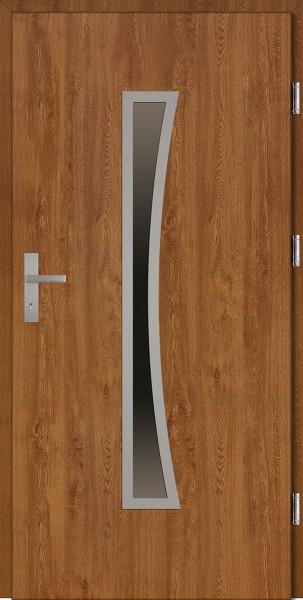 Drzwi wejściowe złoty dąb 90 cm Raffaello Plus SETTO