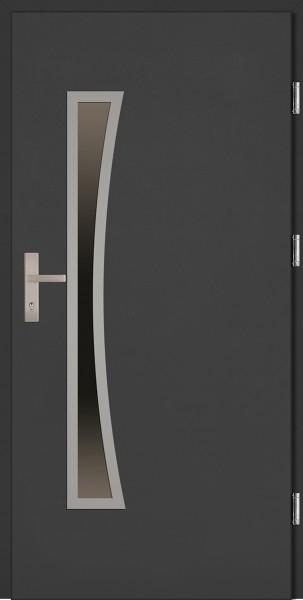 Drzwi wejściowe antracyt 90 cm Raffaello Uno Plus SETTO