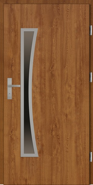 Drzwi wejściowe złoty dąb 90 cm Raffaello Uno Plus SETTO