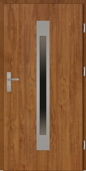 Drzwi wejściowe złoty dąb 90 cm Fabio Plus SETTO