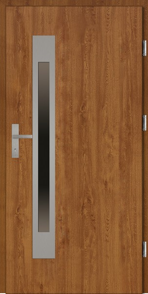 Drzwi wejściowe złoty dąb Fabio Uno Plus SETTO