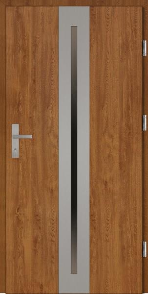 Drzwi wejściowe złoty dąb 90 cm Matteo Plus SETTO