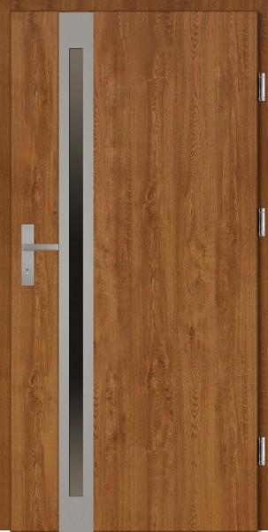 Drzwi wejściowe złoty dąb Marcello Uno Plus SETTO