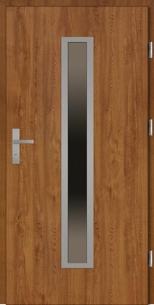 Drzwi wejściowe złoty dąb model Diego Plus SETTO