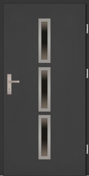 Drzwi wejściowe antracyt 90 cm Valentino Plus SETTO