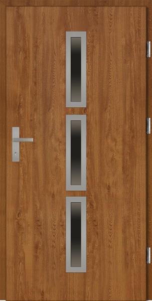 Drzwi wejściowe złoty dąb 90 cm Valentino Plus SETTO