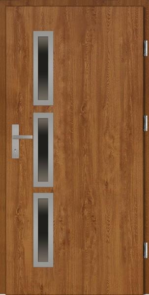 Drzwi wejściowe złoty dąb Valentino Uno Plus SETTO