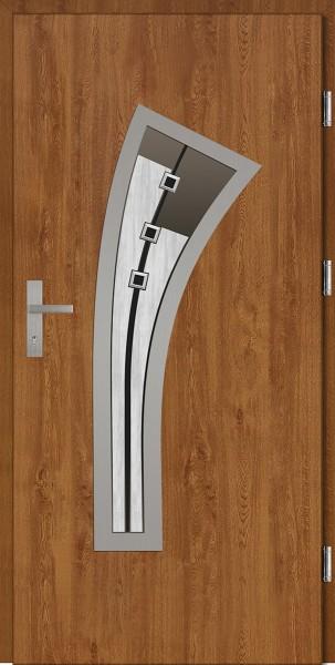 Drzwi wejściowe złoty dąb szyba DIP Leonardo Plus SETTO