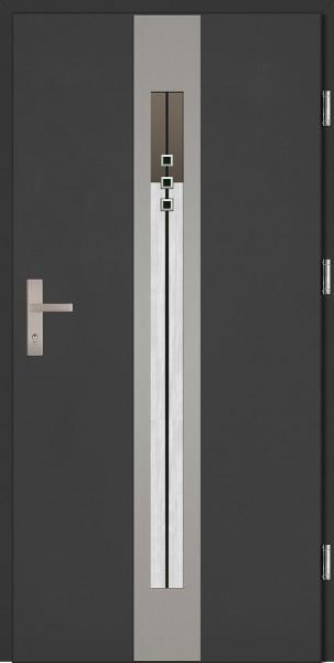 Drzwi wejściowe antracyt 90 cm Sergio Plus SETTO