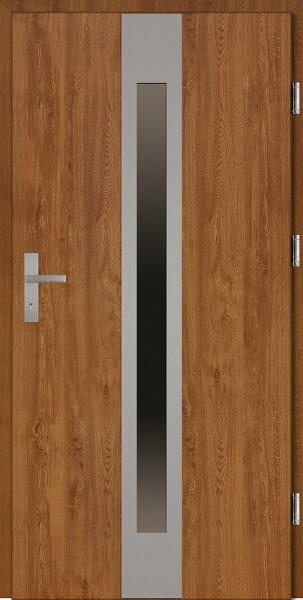 Drzwi wejściowe złoty dąb 90 cm Sergio Plus SETTO