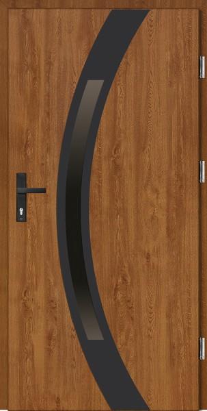 Drzwi wejściowe złoty dąb Luciano Uno Plus SETTO