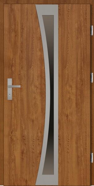 Drzwi wejściowe złoty dąb Ivo Plus SETTO