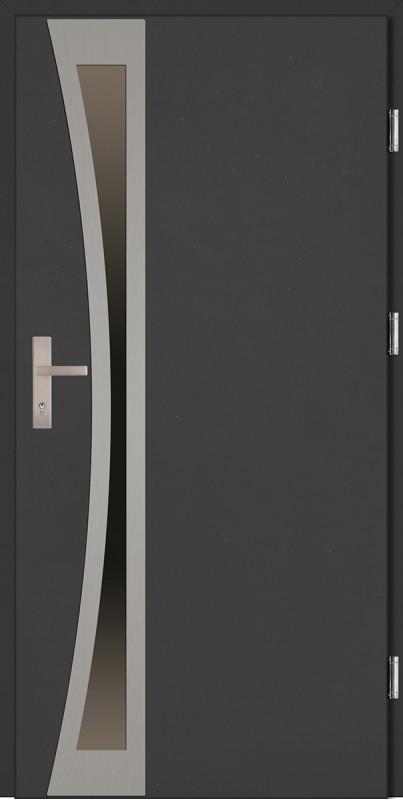 Drzwi wejściowe antracyt Ivo Uno Plus SETTO