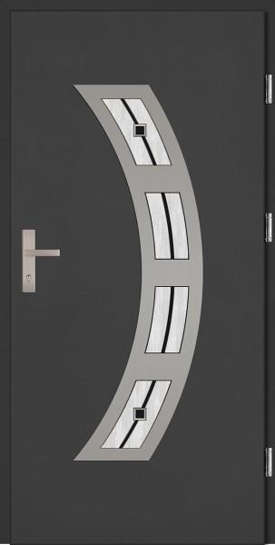 Drzwi wejściowe antracyt szyba DIP Ricardo Plus SETTO