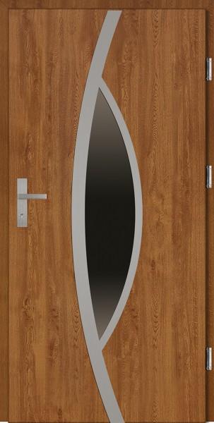 Drzwi wejściowe złoty dąb Lorenzo Plus SETTO