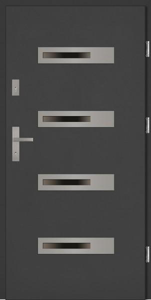 Drzwi zewnętrzne antracyt 4 szyby Armando 4 Classico SETTO