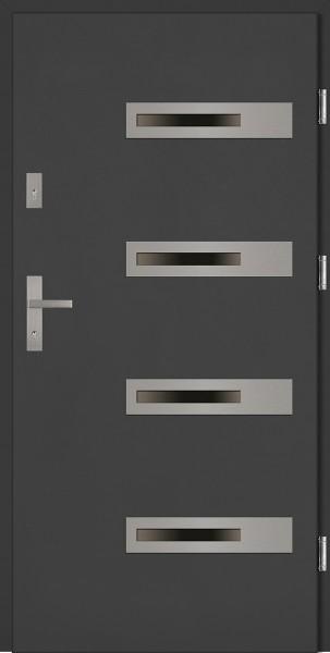 Drzwi zewnętrzne antracyt 4 szyby Armando 4 Due Classico