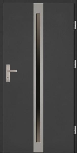 Drzwi zewnętrzne antracyt ramka srebrna Marcello 92 SETTO stalowe