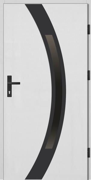 Drzwi zewnętrzne białe ramka czarna Luciano 92 SETTO