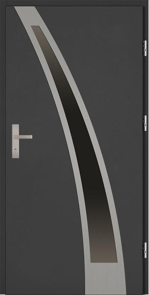 Drzwi zewnętrzne antracyt 90 cm Enrico Plus 92 SETTO