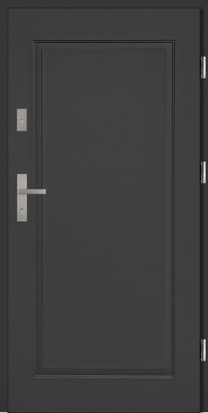 Drzwi stalowe wejściowe antracyt pełne W16 Pełne 68 SETTO