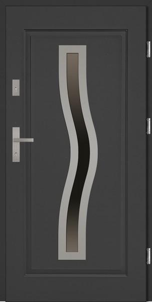 Drzwi stalowe wejściowe antracyt Rino 68 SETTO