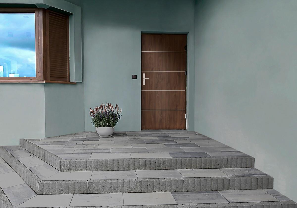 Aplikacja 5 INOX na drzwi zewnętrzne stalowe