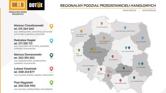 Luty 2021 - zmiany w regionalnym podziale Przedstawicieli Handlowych